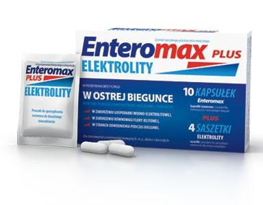 ENTEROMAX PLUS ELEKTROLITY x10 kaps + 4 sasz.